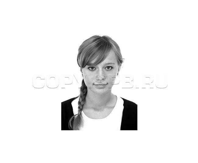 Фото паспорта с лицом девушки