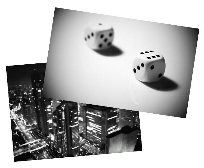 Две черно-белые фотографии