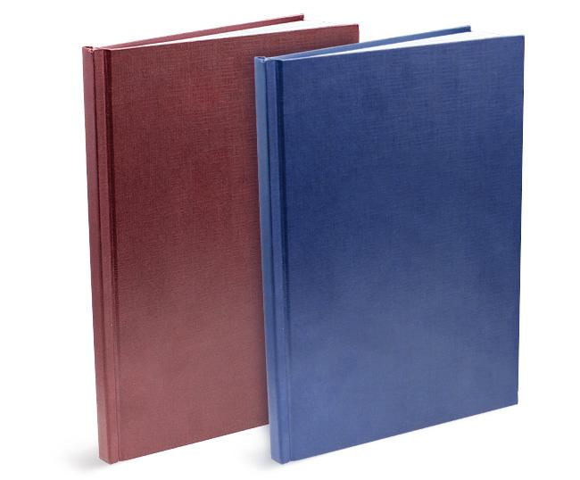 Твердый переплет диплома за мин в типографии СПб Синий переплет в развороте Красная и синяя обложки