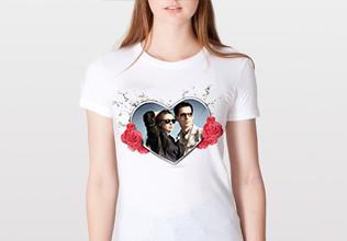 Майка с полноцветной печатью. Нанесение изображения на белые футболки  полноцветной печатью. 16a0f5661a8b7